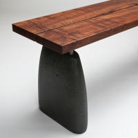 aggregate bench-claro walnut