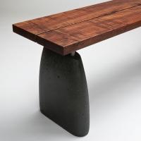 aggregate bench-claro walnut