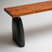 aggregate bench-mahogany